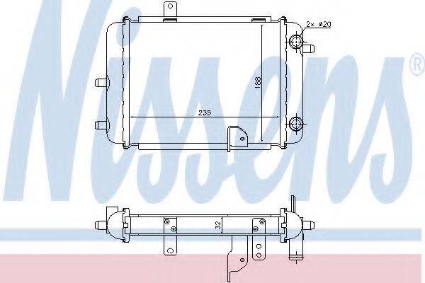 Радиатор, охлаждение двигателя NISSENS 60363