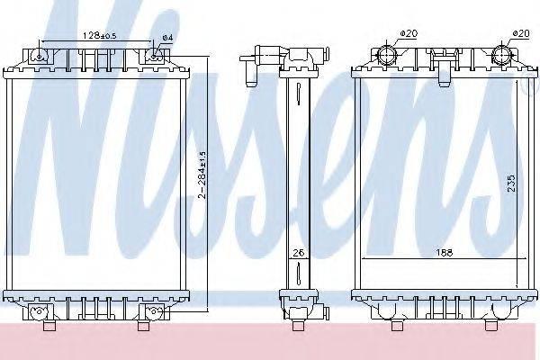 Радиатор, охлаждение двигателя NISSENS 60351