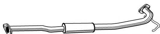 FONOS 614905 Средний глушитель выхлопных газов