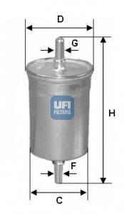 Топливный фильтр UFI 31.718.00