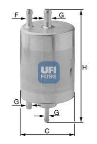 Топливный фильтр UFI 31.834.00