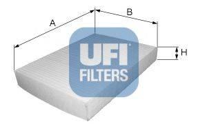 UFI 5301900 Фильтр, воздух во внутренном пространстве