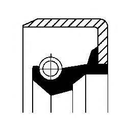 Уплотнительное кольцо вала, приводной вал (масляный насос) CORTECO 12016636B
