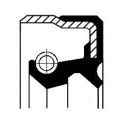 Уплотняющее кольцо, ступица колеса CORTECO 12015407B