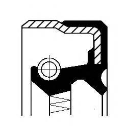 Уплотняющее кольцо, ступенчатая коробка передач; Уплотняющее кольцо, раздаточная коробка; Уплотняющее кольцо, ступица колеса CORTECO 12015263B