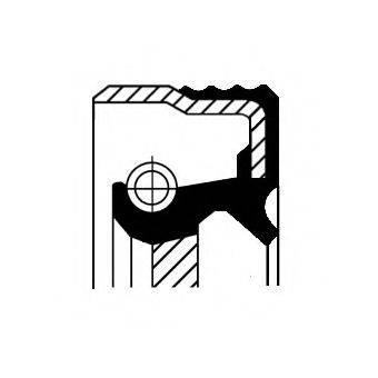 Уплотняющее кольцо, коленчатый вал; Уплотняющее кольцо, ступенчатая коробка передач CORTECO 12018806B