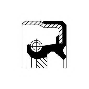 Уплотняющее кольцо, ступенчатая коробка передач; Уплотняющее кольцо вала, автоматическая коробка передач CORTECO 12016675B