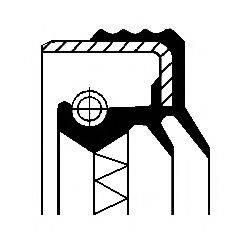 Уплотняющее кольцо, дифференциал; Уплотняющее кольцо, раздаточная коробка CORTECO 12016062B