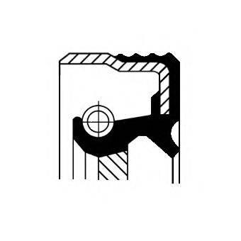 Уплотняющее кольцо, дифференциал CORTECO 12014824B