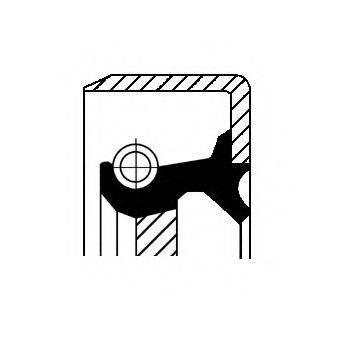 Уплотняющее кольцо, ступенчатая коробка передач CORTECO 12015253B
