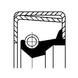 Уплотняющее кольцо, ступица колеса CORTECO 12017296B