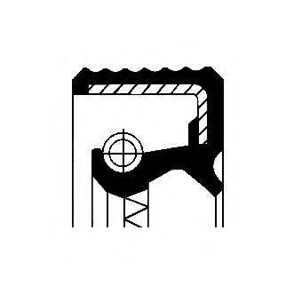 Уплотняющее кольцо, ступица колеса CORTECO 12015710B