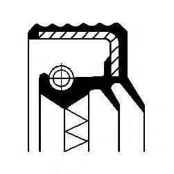 Уплотняющее кольцо, дифференциал; Уплотняющее кольцо, раздаточная коробка; Уплотняющее кольцо, ступица колеса CORTECO 12016928B
