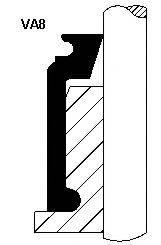 Уплотнительное кольцо, стержень кла CORTECO 12016553