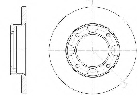 Тормозной диск ROADHOUSE 6039.00