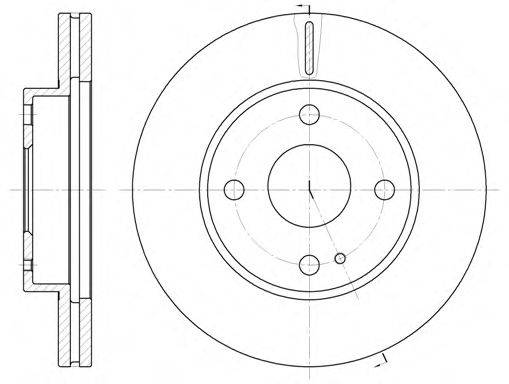 Тормозной диск ROADHOUSE 6056.10