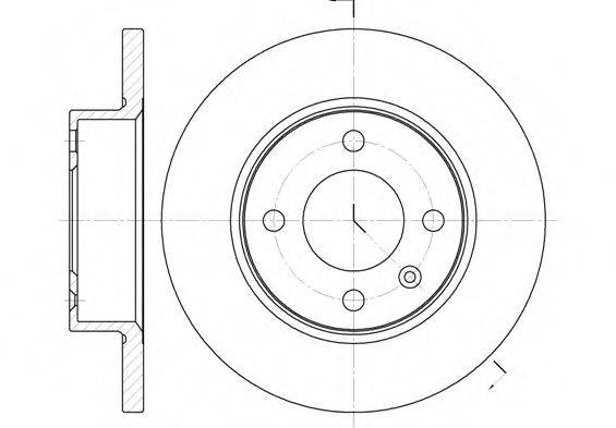 Тормозной диск ROADHOUSE 6060.00