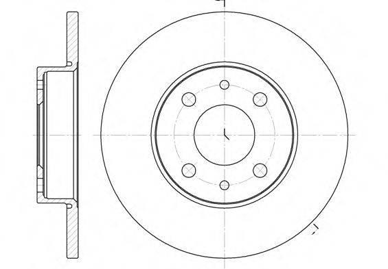 ROADHOUSE 611001 Тормозной диск