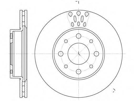 ROADHOUSE 651710 Тормозной диск