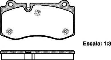 Комплект тормозных колодок, дисковый тормоз REMSA 1202.00