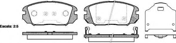 Комплект тормозных колодок, дисковый тормоз REMSA 1204.02