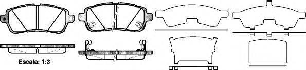 Комплект тормозных колодок, дисковый тормоз REMSA 1281.02