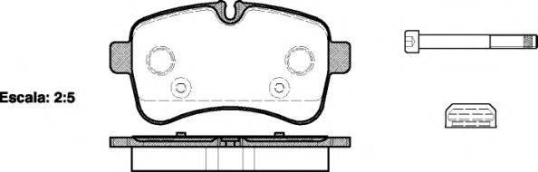 Комплект тормозных колодок, дисковый тормоз REMSA 1282.00
