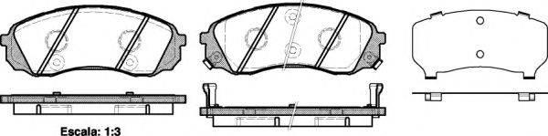 Комплект тормозных колодок, дисковый тормоз REMSA 1291.02