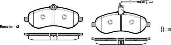 Комплект тормозных колодок, дисковый тормоз REMSA 1292.01