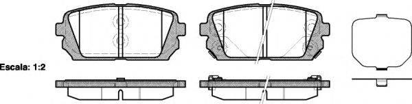 Комплект тормозных колодок, дисковый тормоз REMSA 1303.02