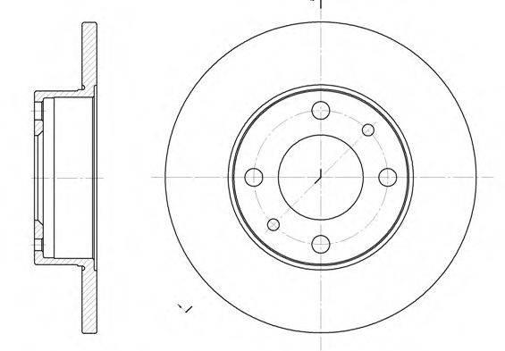 Тормозной диск REMSA 6030.00