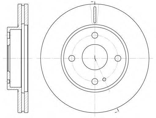 Тормозной диск REMSA 6056.10