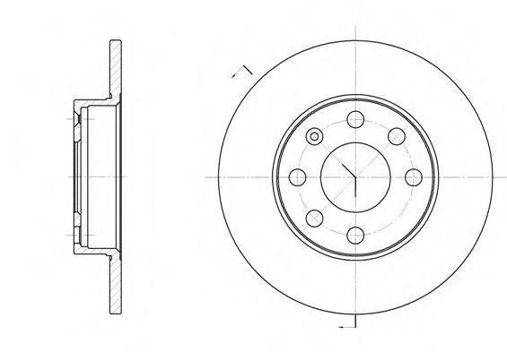 Тормозной диск REMSA 6057.00