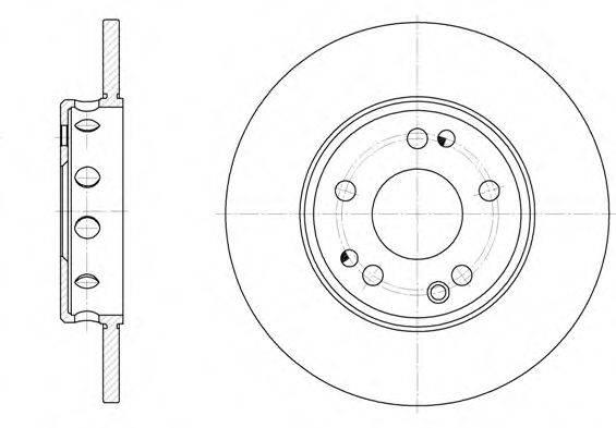 Тормозной диск REMSA 6059.00