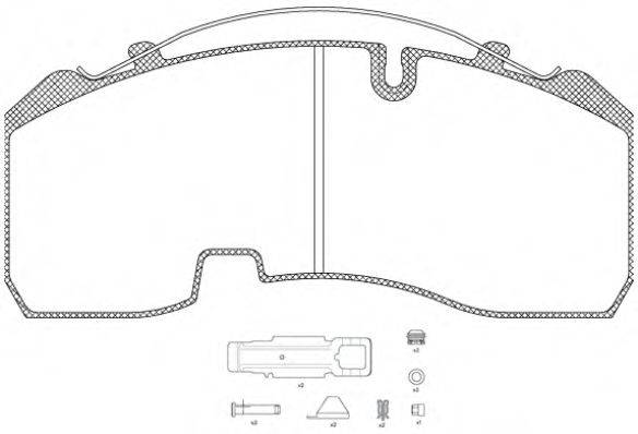Комплект тормозных колодок, дисковый тормоз REMSA JCA 1084.80