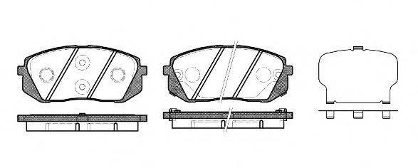 Комплект тормозных колодок, дисковый тормоз REMSA 1302.22
