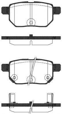 Комплект тормозных колодок, дисковый тормоз REMSA 1286.22