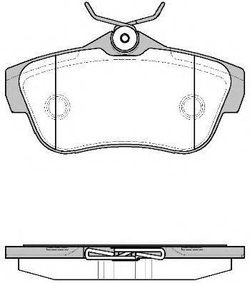 Комплект тормозных колодок, дисковый тормоз REMSA 1299.00