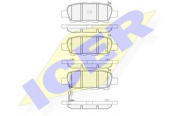 ICER 181509 Комплект тормозных колодок, дисковый тормоз