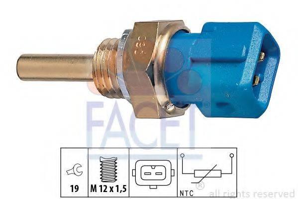 FACET 73128 Датчик, температура масла; Датчик, температура охлаждающей жидкости