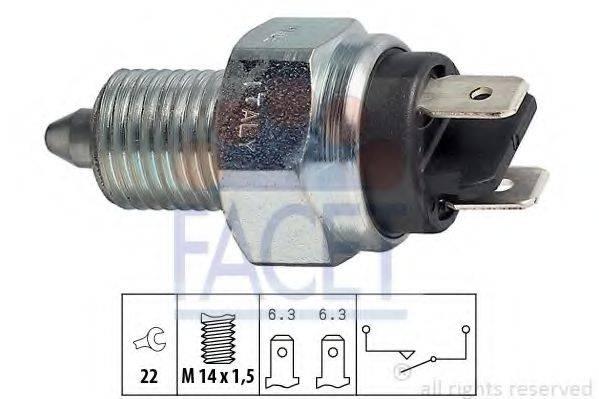 FACET 76001 Выключатель, фара заднего хода