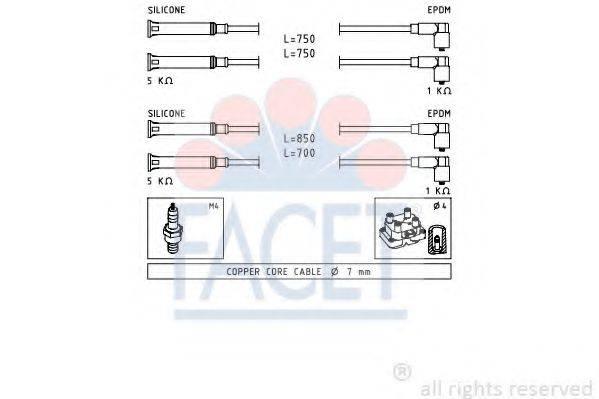 FACET 49694 Комплект проводов зажигания