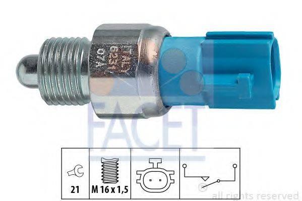 FACET 76231 Выключатель, фара заднего хода