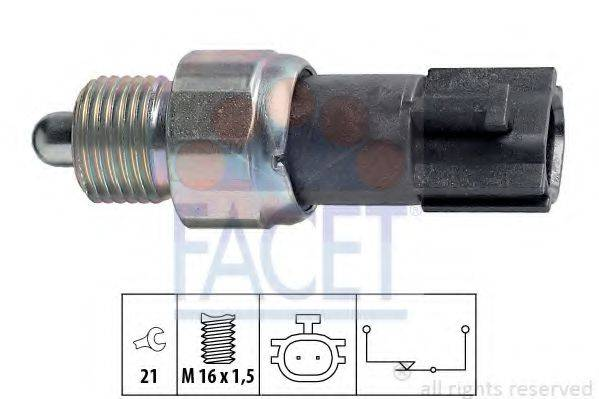 FACET 76232 Выключатель, фара заднего хода
