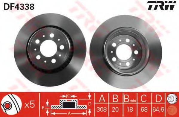 Тормозной диск TRW DF4338