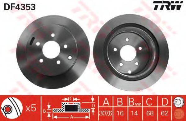 Тормозной диск TRW DF4353