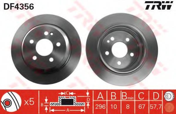 Тормозной диск TRW DF4356