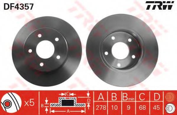 Тормозной диск TRW DF4357