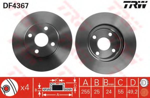 Тормозной диск TRW DF4367