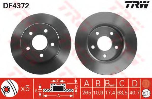 Тормозной диск TRW DF4372